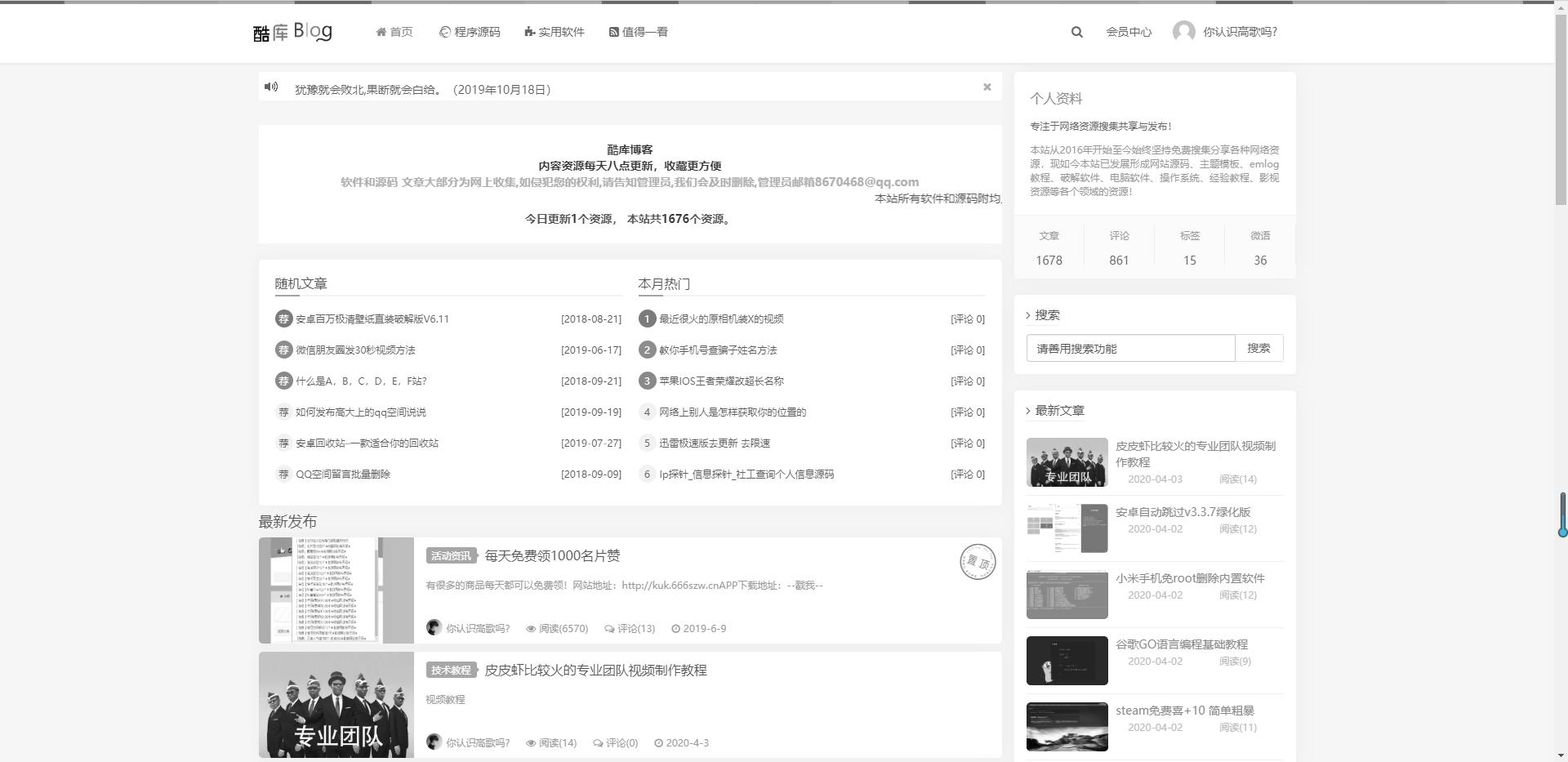 一次性html黑白网站代码