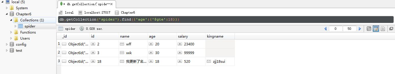PyMongo和MongoDB数据库的交互 常用操作方法