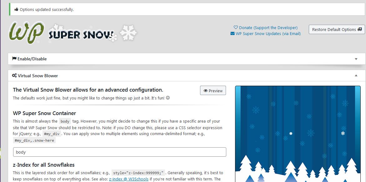 WordPress网站添加圣诞下雪特效 网站添加圣诞节特效
