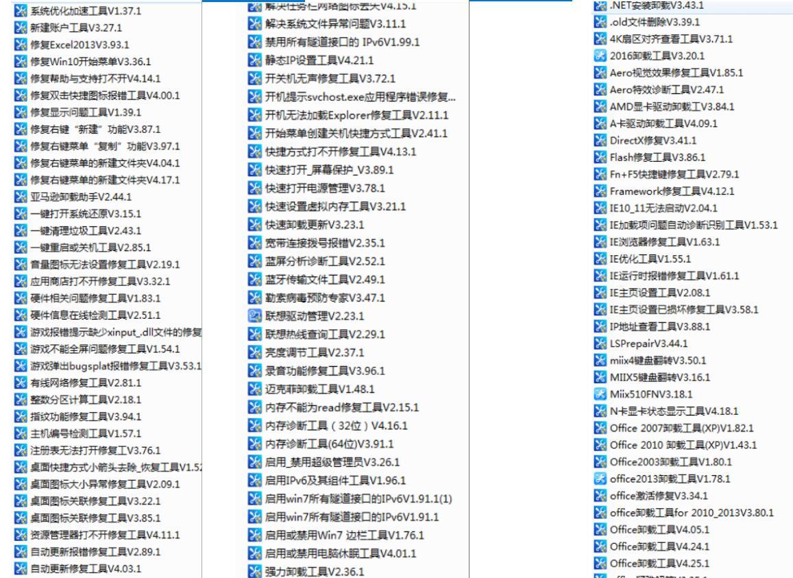 两百个修复电脑故障PC工具-稀奇屋专业分享
