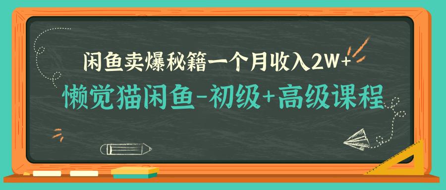 [高端精品] 懒觉猫闲鱼-初级+高级课程,闲鱼卖爆秘籍,让你一个月收入2W+(完结)  第1张